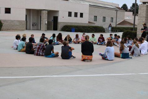 Advisory class doing a restorative circle.