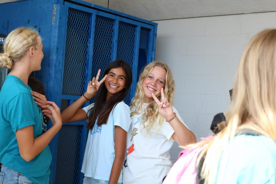 Students having fun at the New Student Ice Cream Social put on by WEB.